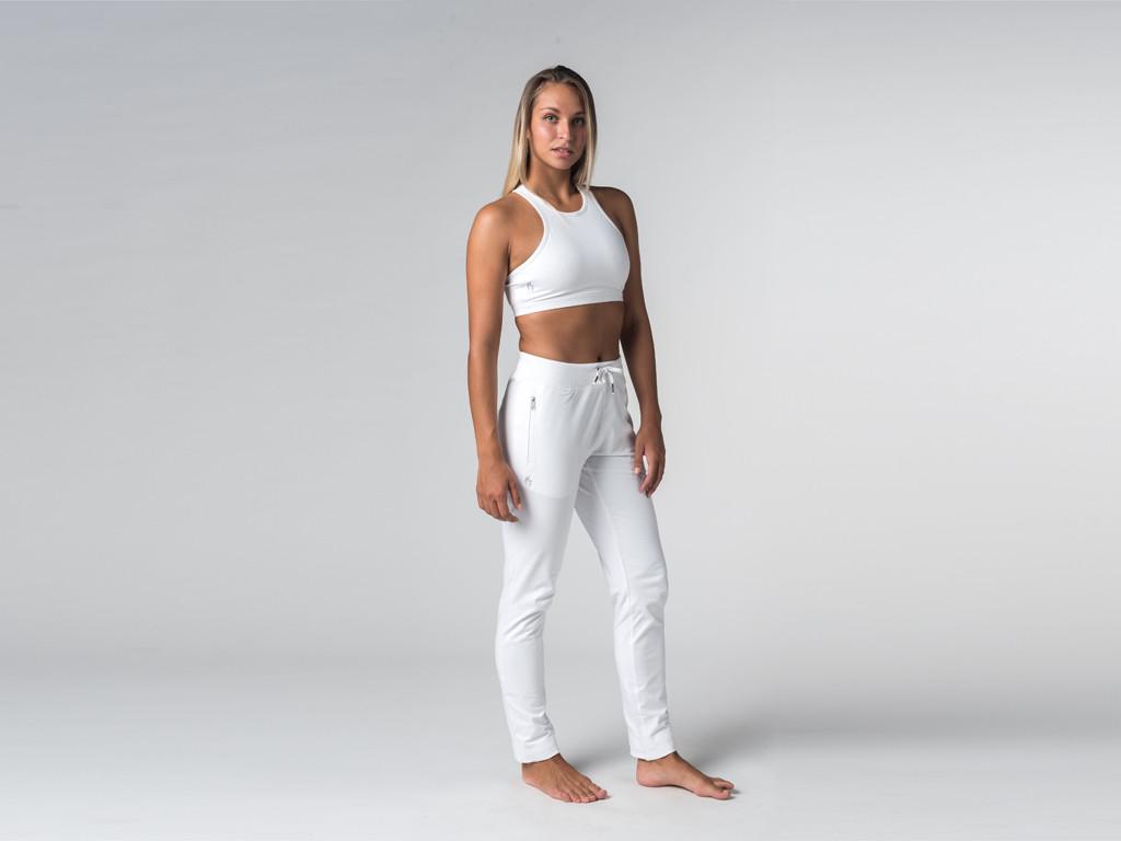 Pantalon de yoga Slim Femme - Coton Bio Blanc