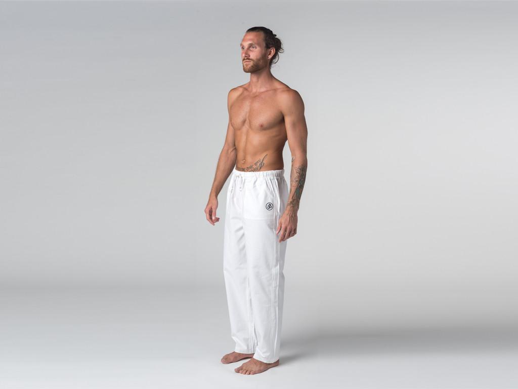 Pantalon spécialisé H/F Pavita - 100% coton Bio Blanc