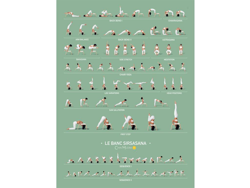 Poster de Sirsasana variations 41 cm x 57 cm - Vert