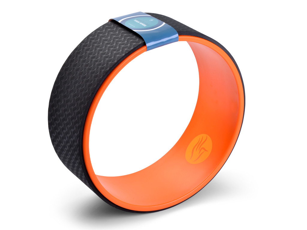 Roue Yoga - Orange/Noir 32cm x 13cm