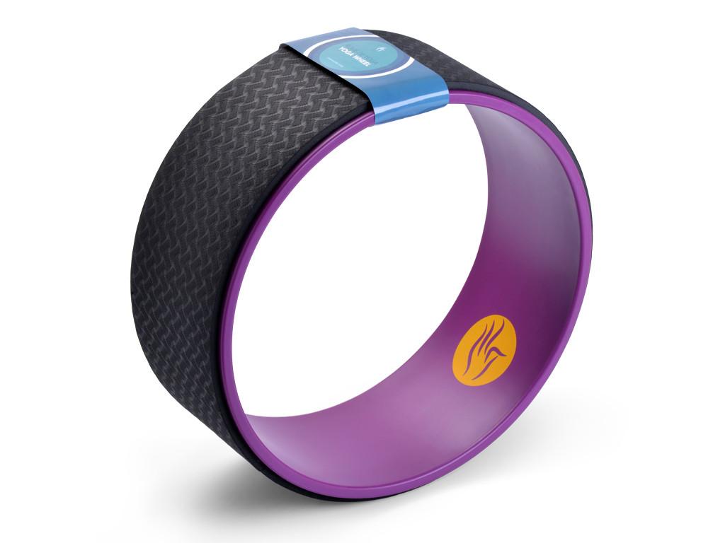 Roue Yoga - Prune/Noir 32cm x 13cm