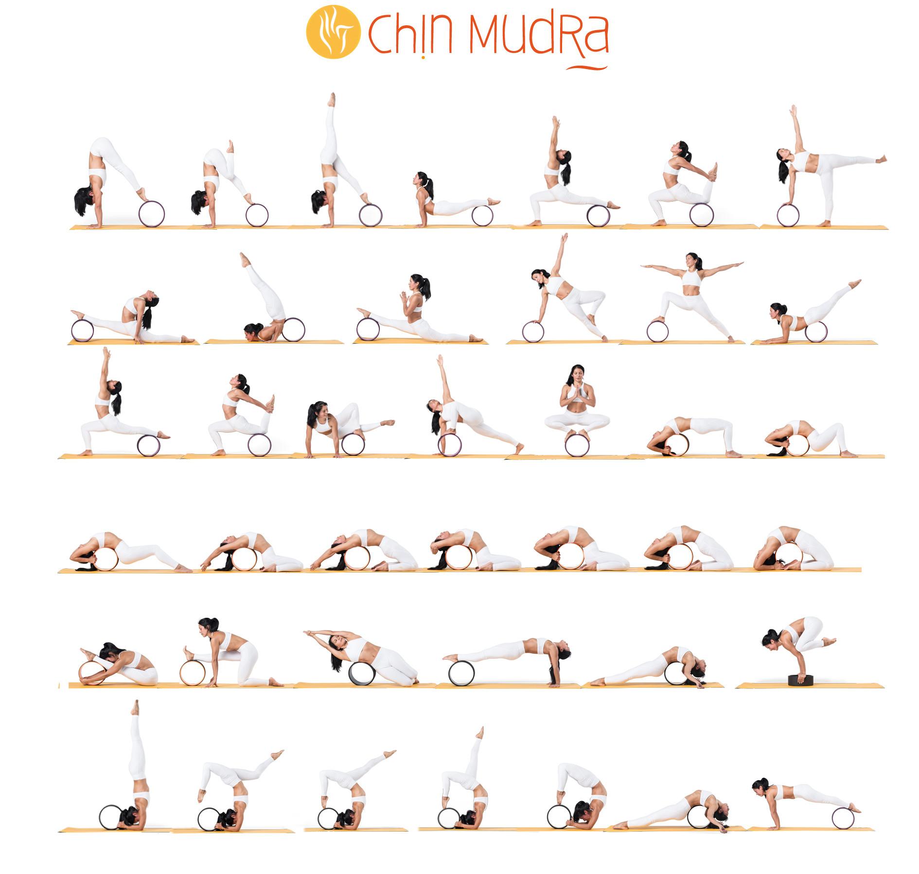 Roue Yoga - Noir 32cm x 13cm