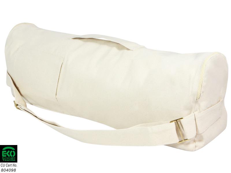 Sac à tapis de yoga Chic et Cool 100% Coton Bio 70cm x 17cm Blanc