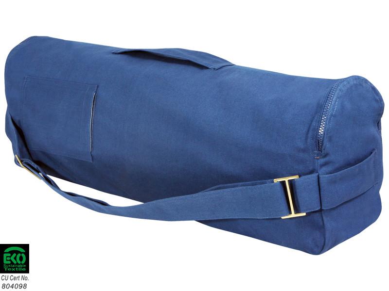 Sac à tapis de yoga Chic et Cool 100% Coton Bio 70cm x 17cm Bleu