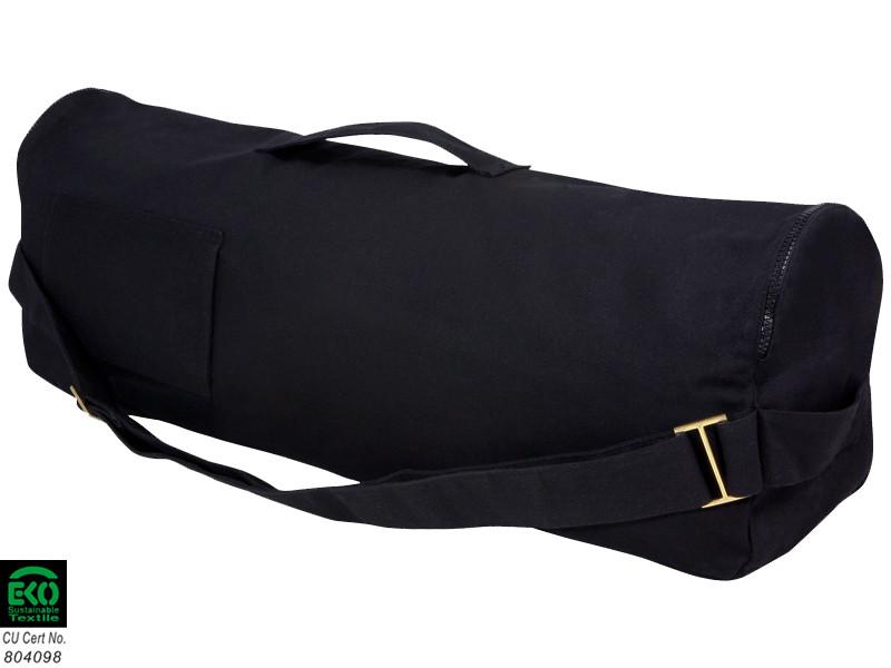 Sac à tapis de yoga Chic et Cool 100% Coton Bio 70cm x 17cm Noir