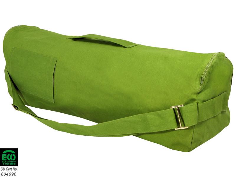 Sac à tapis de yoga Chic et Cool 100% Coton Bio 70cm x 17cm Vert