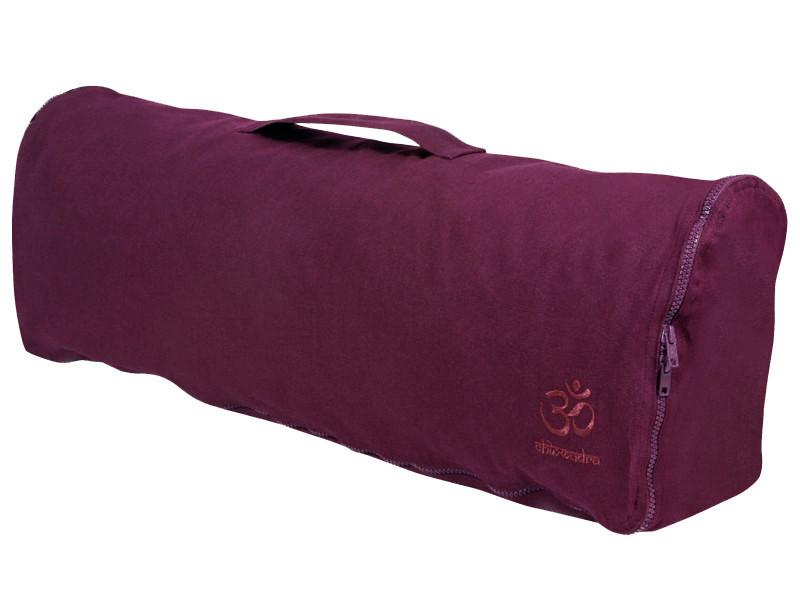 Sac à tapis de yoga Chic et Cool 100% Coton Bio 70cm x 17cm Prune