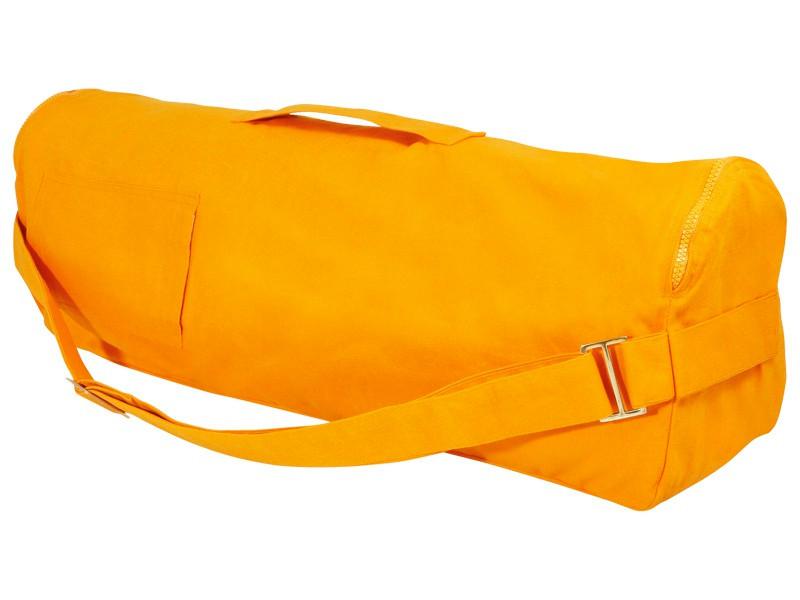 Sac à tapis de yoga Chic et Cool 100% Coton Bio 82cm x 17cm Orange Safran