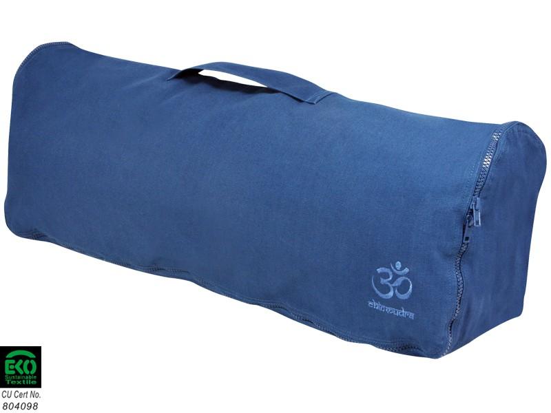 Sac à tapis de yoga Chic et Cool 100% Coton Bio 82cm x 17cm Bleu