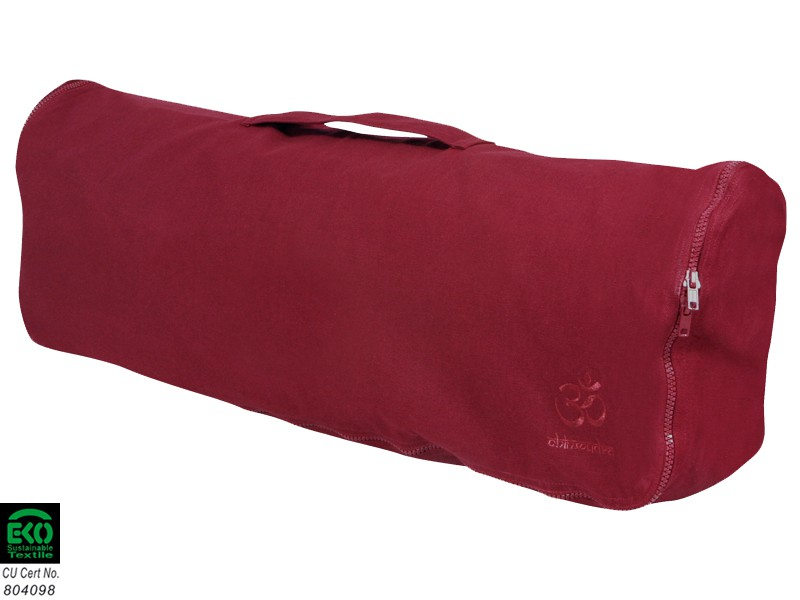 Sac à tapis de yoga Chic et Cool 100% Coton Bio 82cm x 17cm Bordeaux