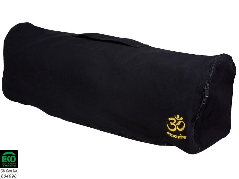 Sac à tapis de yoga Chic et Cool 100% Coton Bio 82cm x 17cm Noir
