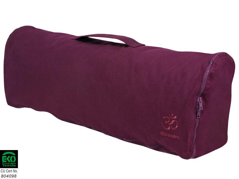 Sac à tapis de yoga Chic et Cool 100% Coton Bio 82cm x 17cm Prune
