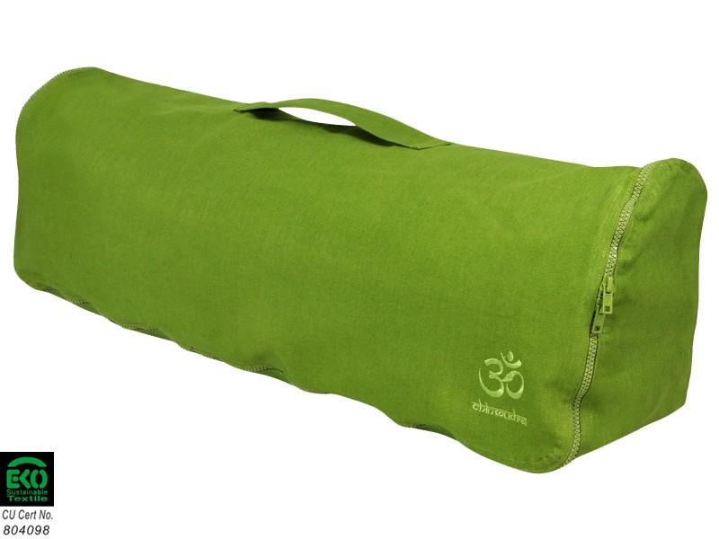 Sac à tapis de yoga Chic et Cool 100% Coton Bio 82cm x 17cm Vert