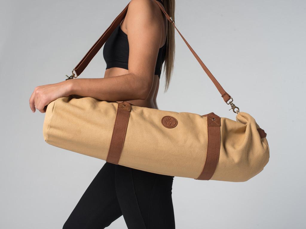 Sac à tapis de yoga Navy Bag - Coton Sable 70cm x 20 cm