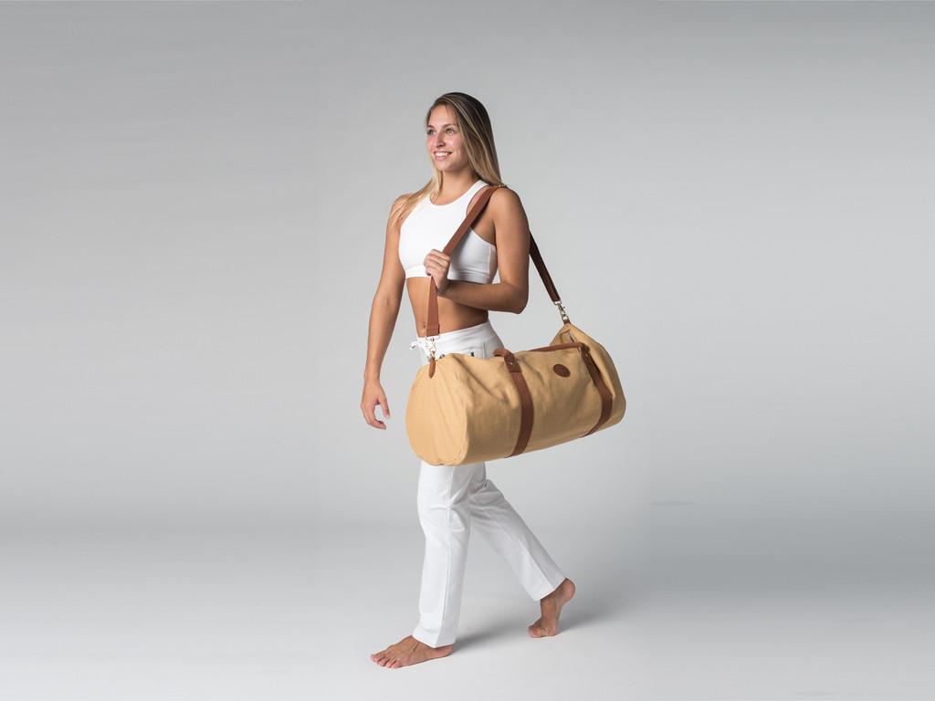 Sac à tapis de yoga Navy Bag - Coton Sable 70cm x 30 cm