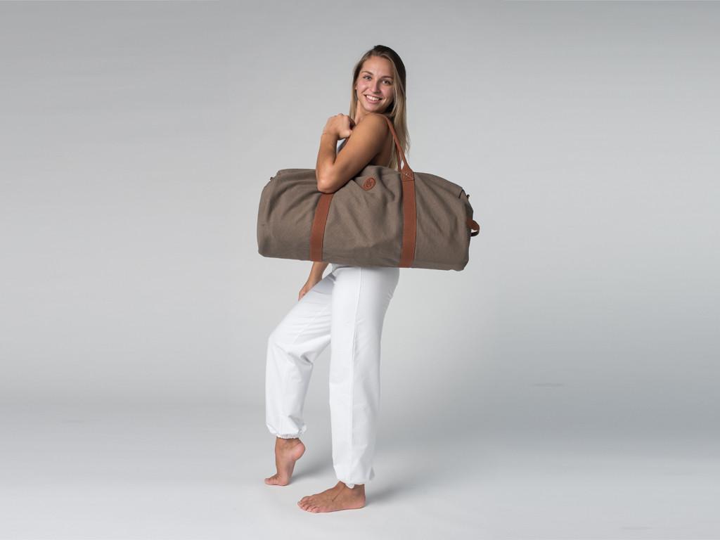 Sac à tapis de yoga Navy Bag - Coton Taupe 70cm x 30 cm