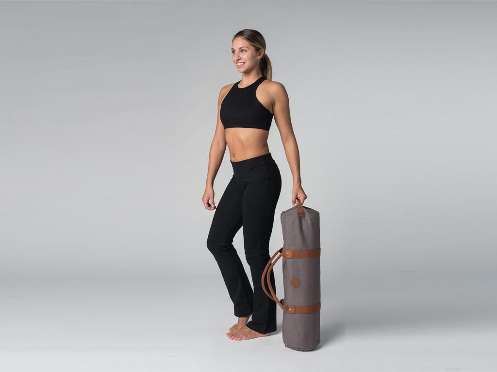 Sac à tapis de yoga Navy Bag - Coton Taupe 70cm x 20 cm