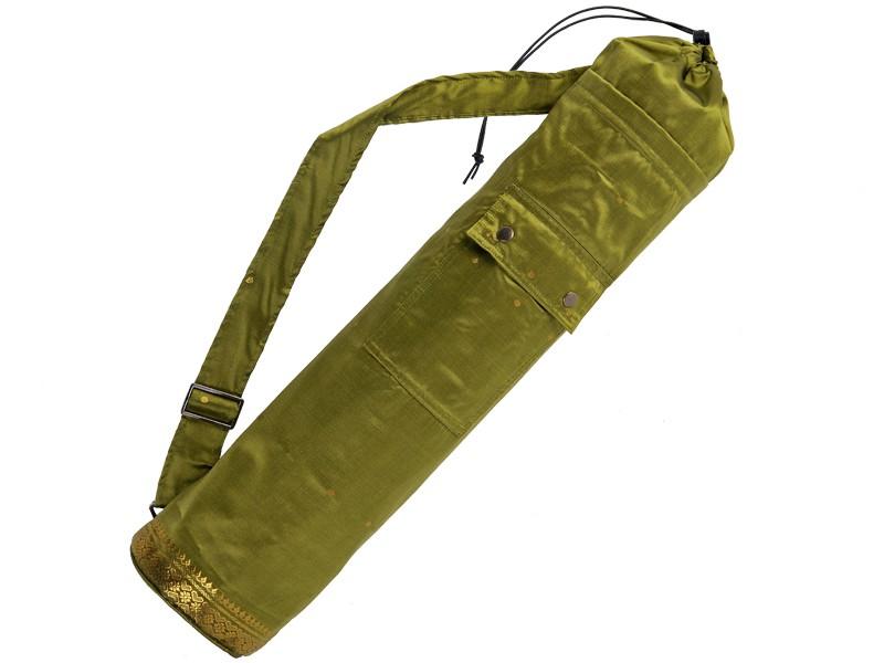 Sac à tapis de yoga Saree 71 cm x 15 cm Vert