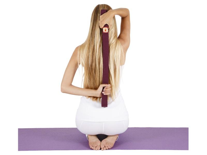 Sangle de yoga 100% coton Bio boucle 1/2 lune Blanche