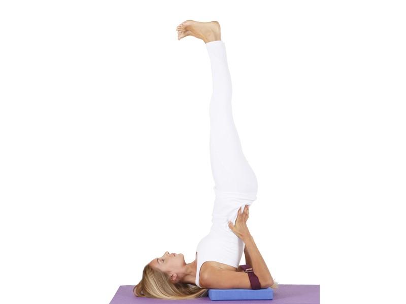 Sangle de yoga 100% coton Bio boucle 1/2 lune Bleu