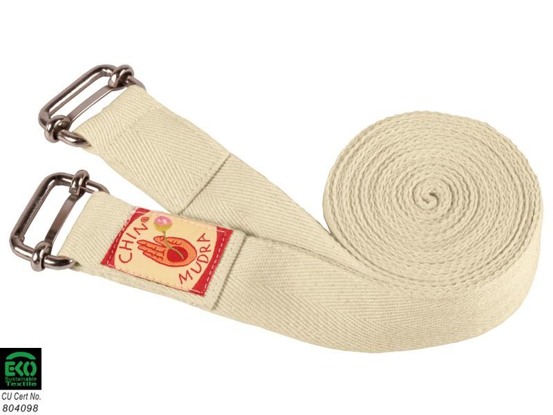 Sangle de yoga Iyengar double boucle 100% Bio 3cm x 250cm