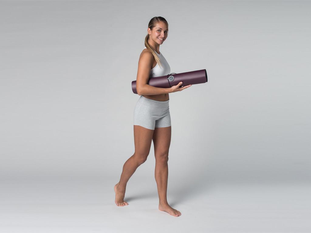Short de yoga 95% coton Bio et 5% Lycra Gris