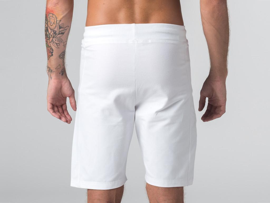 Short de yoga homme - Coton Bio Blanc