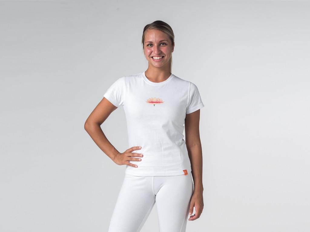 T-shirt manches courtes Lotus - coton Bio Blanc