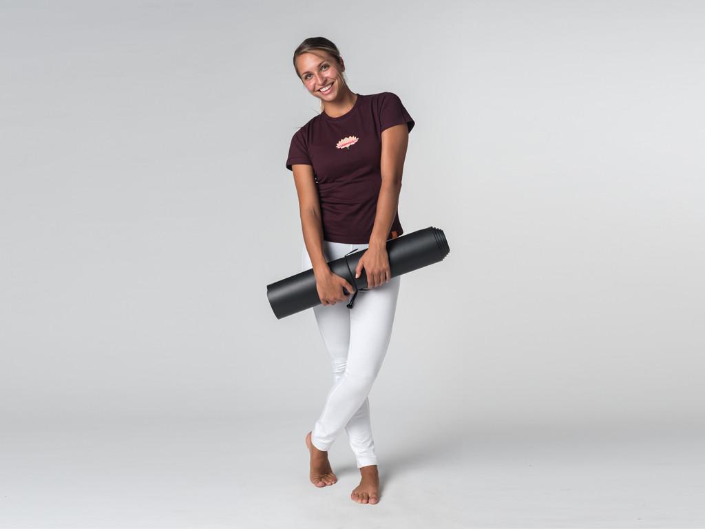 T-shirt manches courtes Lotus - coton Bio Prune