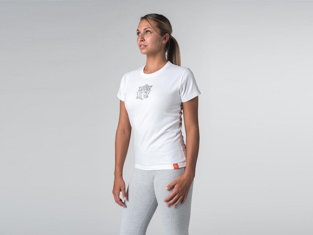 T-shirt manches courtes Sri Ganesh - coton Bio Blanc