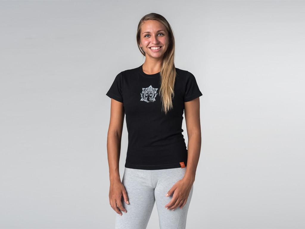 T-shirt manches courtes Sri Ganesh - coton Bio Noir