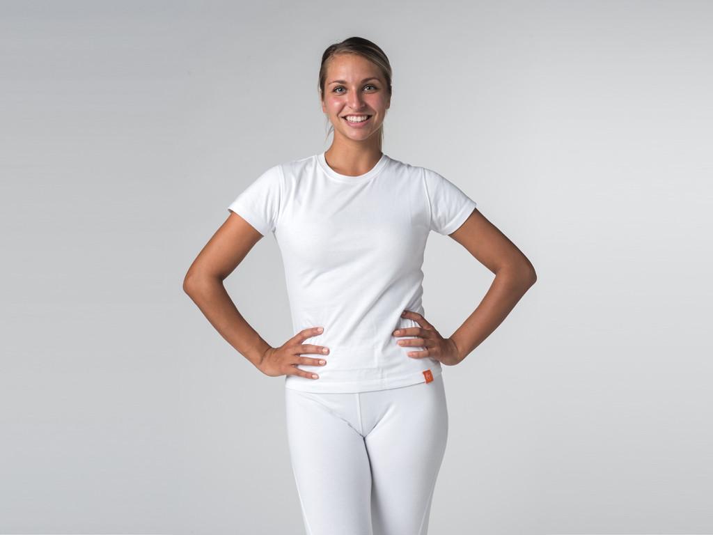 T-shirt manches courtes Tara 100% coton Bio Blanc