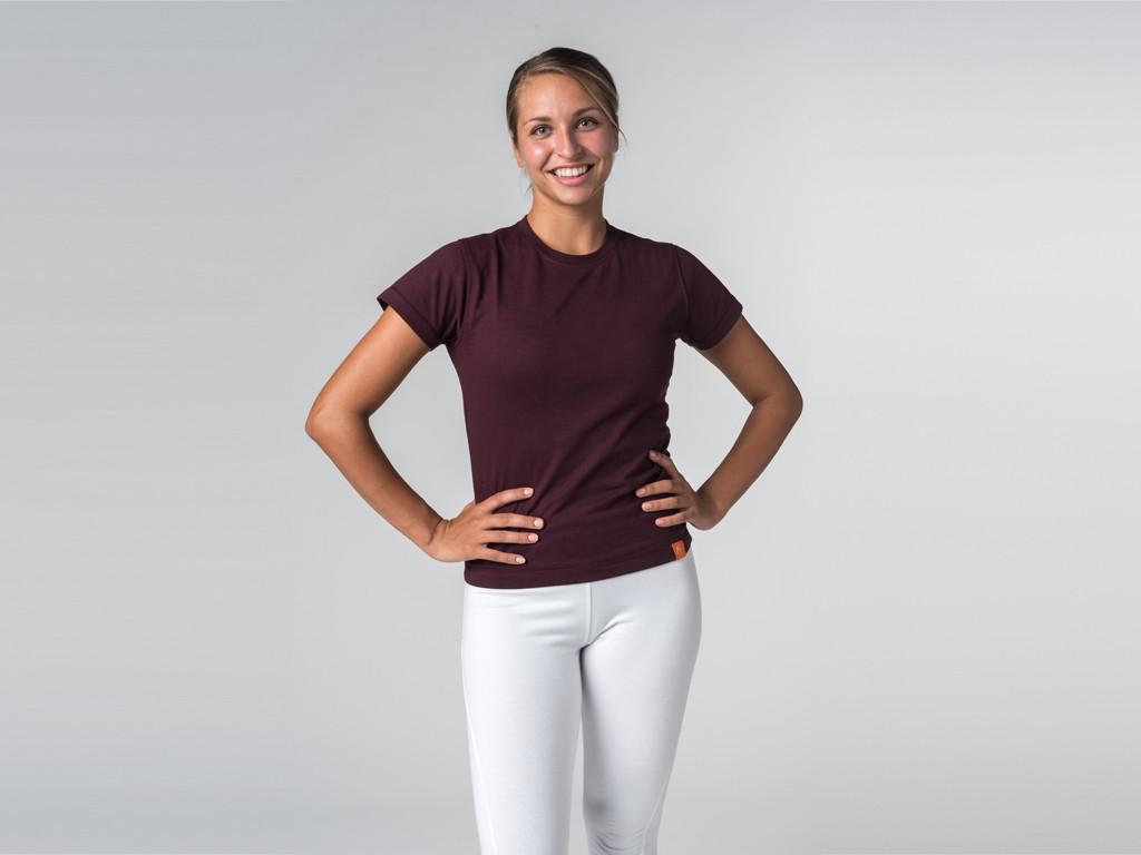 T-shirt manches courtes Tara 100% coton Bio Prune
