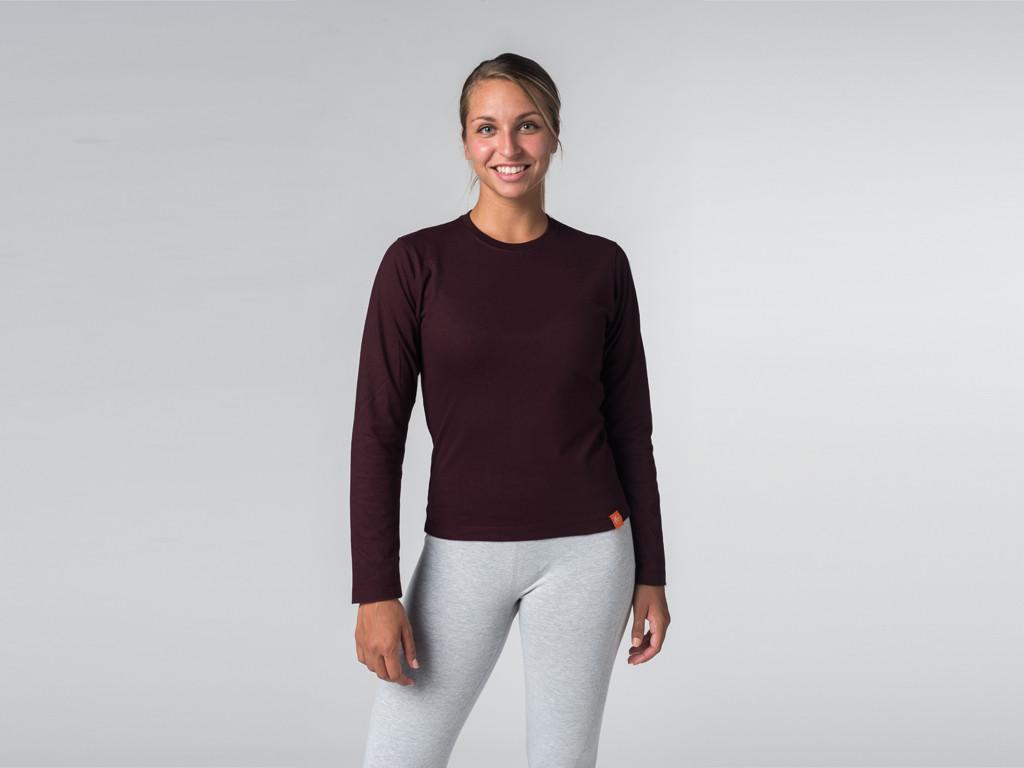 T-shirt manches Longues 100% Bio Prune
