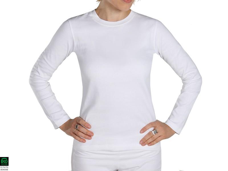 T-shirt manches Longues 100% Bio Blanc