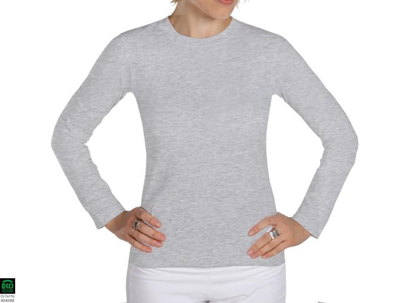 T-shirt manches Longues 100% Bio Gris Perlé