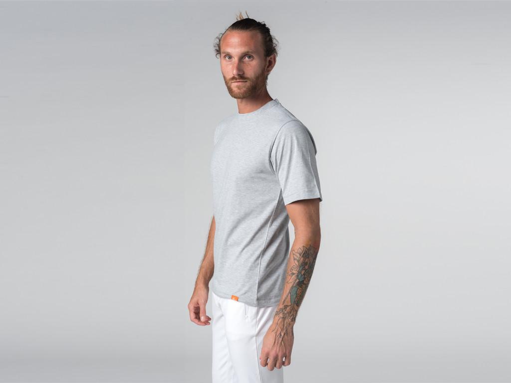 T-shirt Tapan 100% coton Bio - Manches courtes Gris Perlé