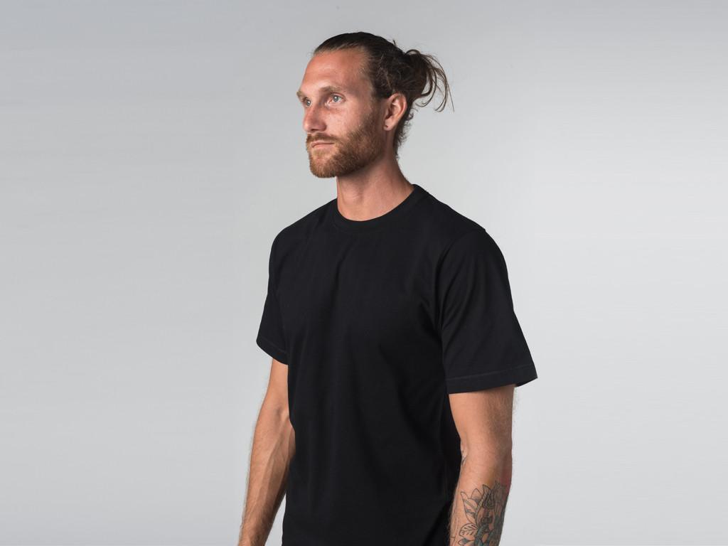 T-shirt Tapan 100% coton Bio - Manches courtes - Noir Noir