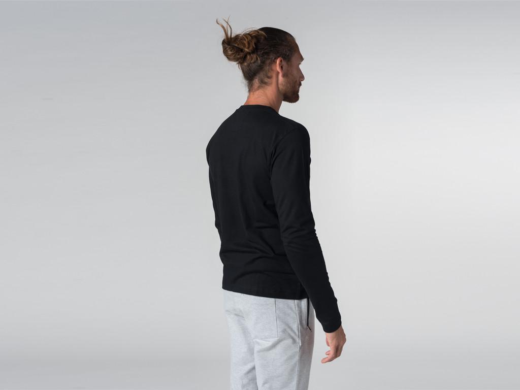 T-shirt Tapan 100% coton Bio - Manches longues Noir
