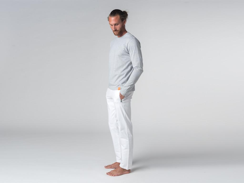 T-shirt Tapan 100% coton Bio - Manches longues Gris Perlé