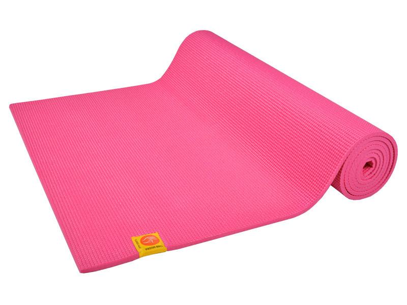 Tapis de yoga Confort Non toxiques - 183cm x 61cm x 6mm Rose Indien