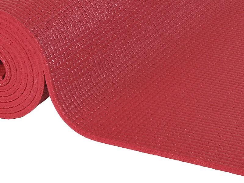Tapis de yoga Confort Non toxiques - 183cm x 61cm x 6mm Bordeaux