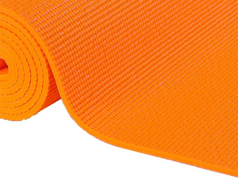 Tapis de yoga Confort Non toxiques - 183cm x 61cm x 6mm Orange Safran