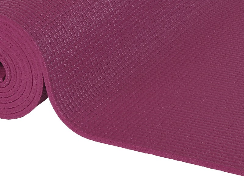 Tapis de yoga Confort Non toxiques - 183cm x 61cm x 6mm Prune