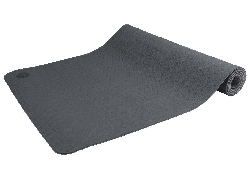 Tapis de Yoga Eco-Terre 183 cm X 60 cm x 6 mm Gris/Anthracite