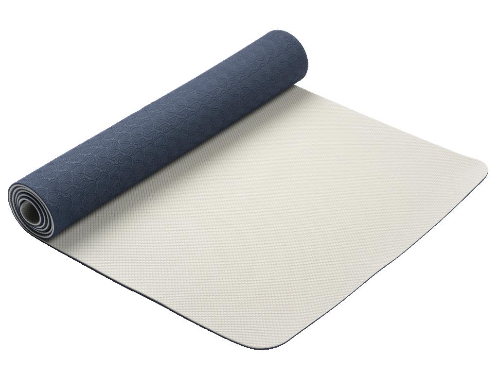 Tapis de Yoga Eco-Terre 183 cm X 60 cm x 6 mm Bleu