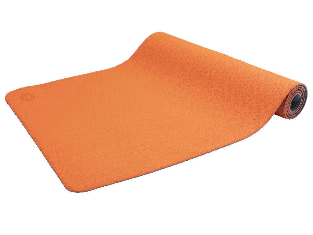 Tapis de Yoga Eco-Terre 183 cm X 60 cm x 6 mm Orange/Anthracite