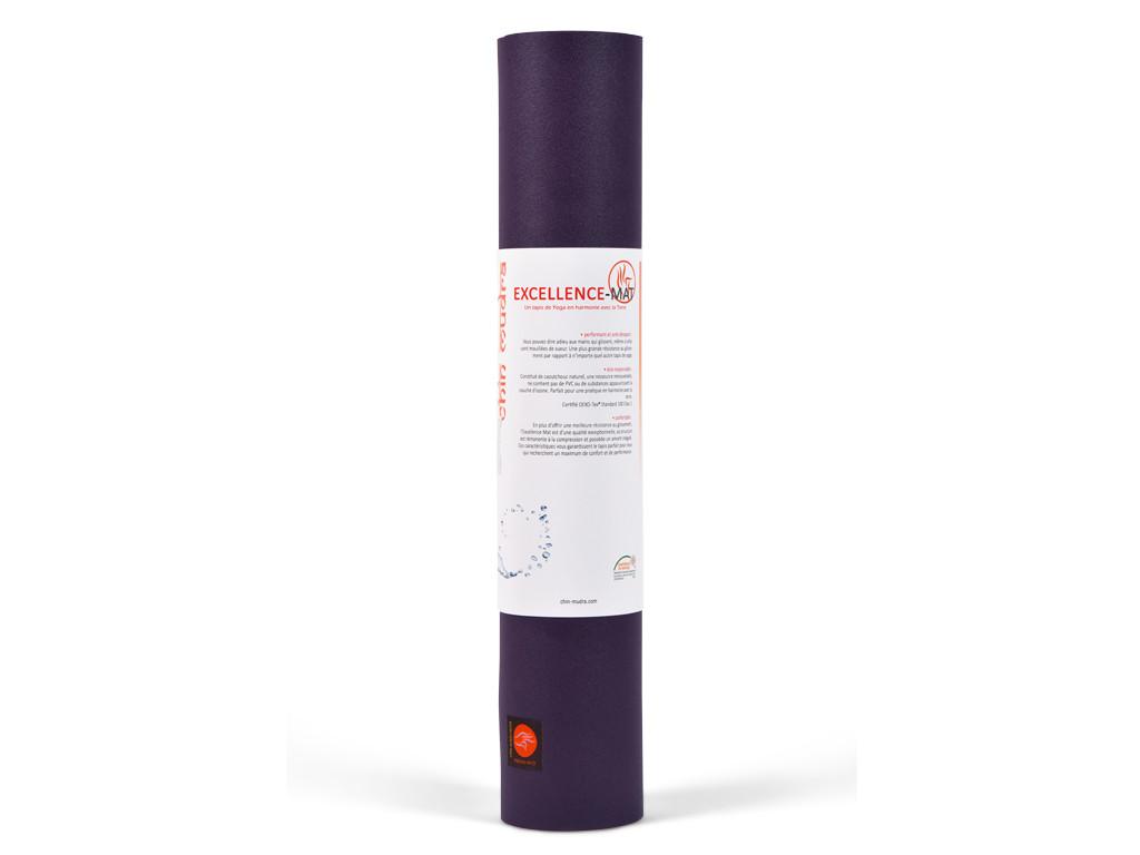 Tapis de yoga Excellence Mat 100% Latex - 6mm Prune