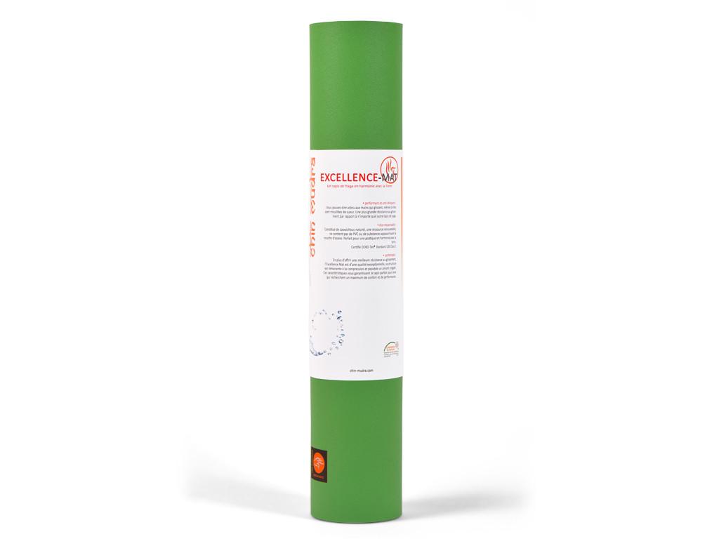Tapis de yoga Excellence Mat 100% Latex - 6mm Vert