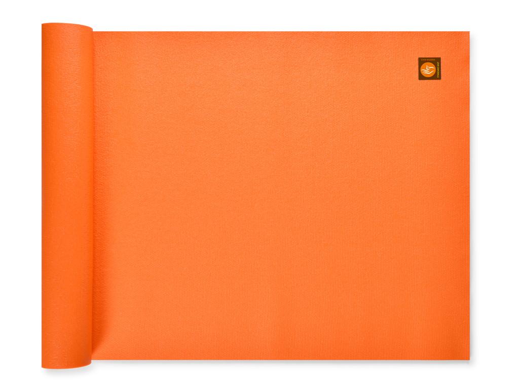 Tapis de yoga Large-Mat 183cm/220cmx80cmx4.5mm Orange Safran